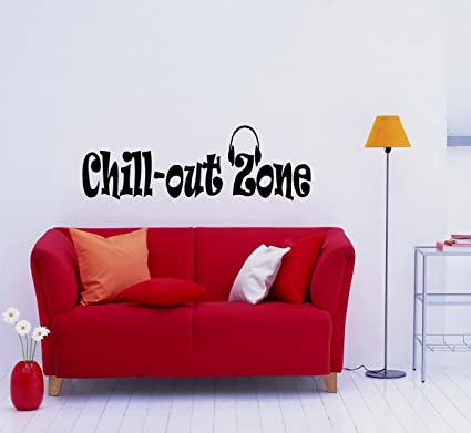 Housewares Vinyl Decal Music Headphones Chill Out Zone ...