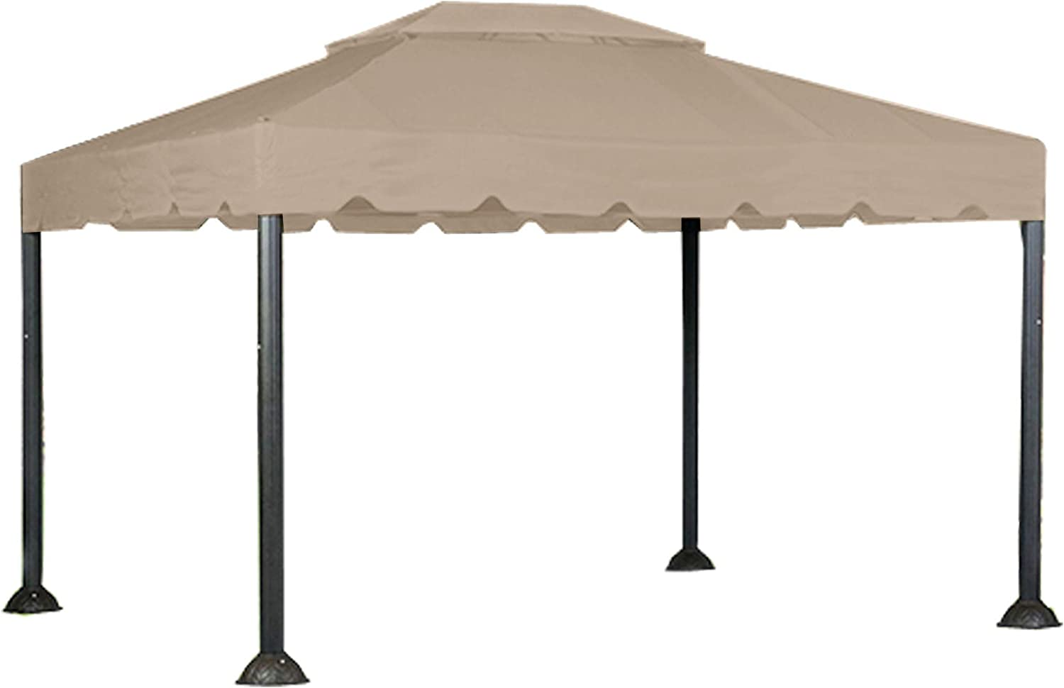 10 X 12 Garden House Gazebo Replacement Canopy Top Cover and Netting - RipLock 350
