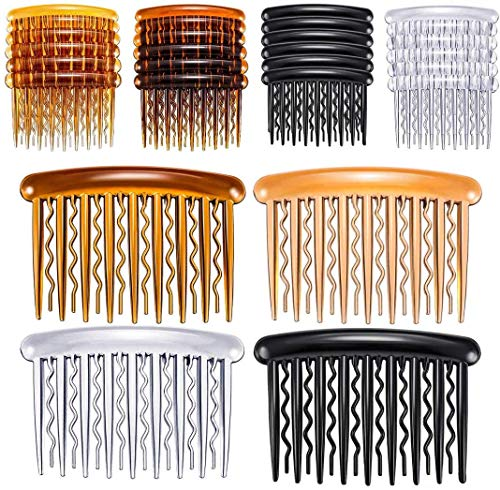 28 Pieces Plastic Hair Side Combs Wave Teeth Hair Combs Hair Clip Comb Bridal Wedding Veil Comb for Fine Hair (Mix Color)