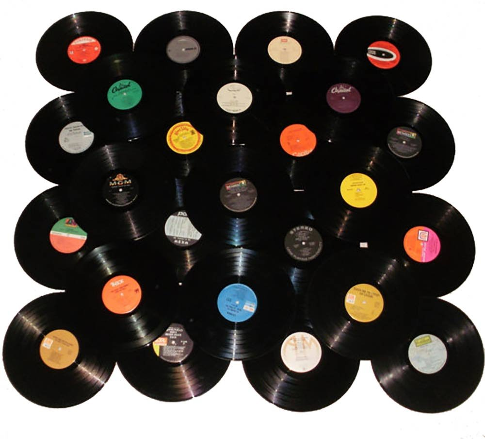"VinylShopUS - Lot of 12"" Vinyl Records for Crafts & Decoration Artwork for Party Decor Artist Studio Vintage Look (Lot of 10)"