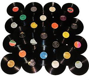 "VinylShopUS - Lot of 12"" Vinyl Records for Crafts & Decoration Artwork for Party Decor Artist Studio Vintage Look (Lot of 10)"