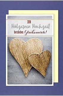 Gluckwunschkarte Holzerne Hochzeit 5 Oder 10 Jahre Hochzeitstag
