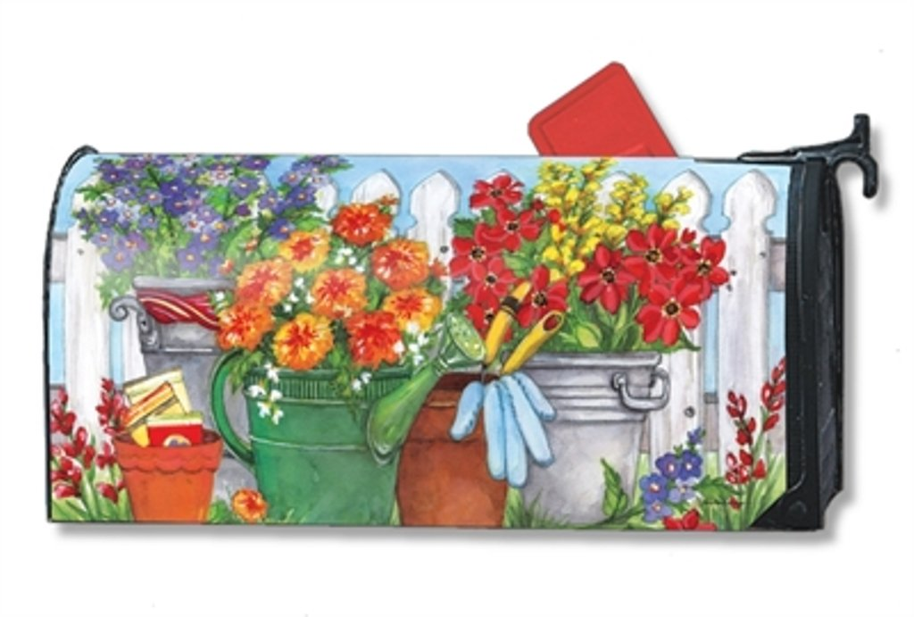 MailWraps Vintage Watering Can Mailbox Cover 01489 by Studio M