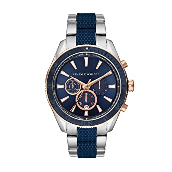 efd75399618e Image Unavailable. Image not available for. Colour  Armani Exchange Analog  Blue Dial Men s Watch ...