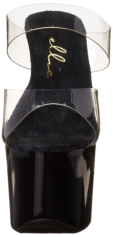 Ellie Shoes B00JEERRDG Women's 711 Coco Platform Sandal B00JEERRDG Shoes 8 B(M) US|Clear/Black 0aa232