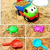 8 pcs/set Beach Toys Playset for Kids, Large Dump Truck Sand Shovel Summer Set Funny Tools Box for Baby&Kids&Children 1 -10 Years