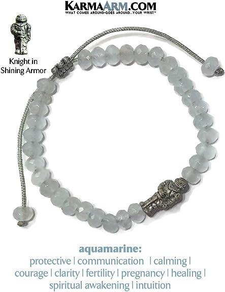 KarmaArm Love Bracelet Natural Dark Blue Jade Meditation Spiritual Pull Tie Mantra Reiki Healing Energy Boho Chakra Wrap Yoga Jewelry /& Gifts Knight in Shining Armor