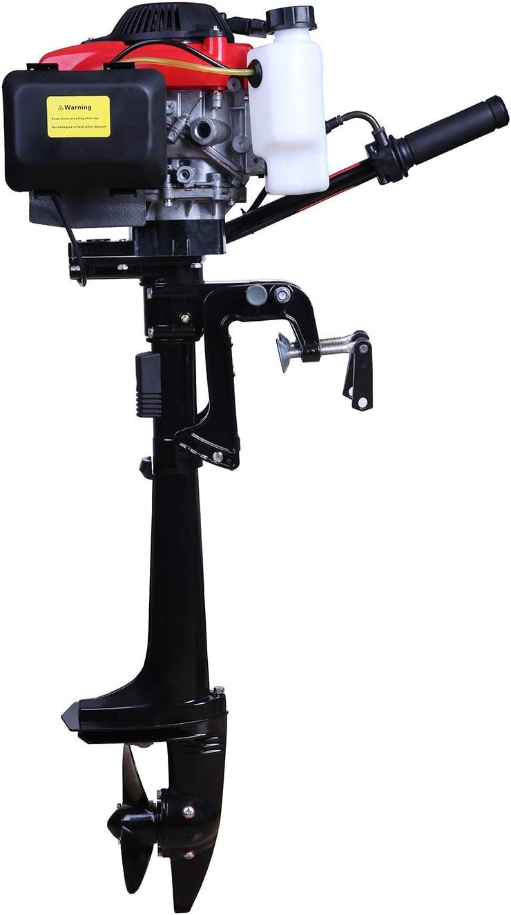 LEADALLWAY 4HP Boat Engine New Four Stroke Watering Cooling and Air Cooling Superior Outboard Motor 55cc Boat Machine for Kayak Fishing Boat Canoe