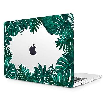 TwoL Ultra Delgado Funda Carcasa Rígida Protector de Plástico Case Cover para MacBook Pro 15 A1707 A1990 Versión 2016-2019 Grass