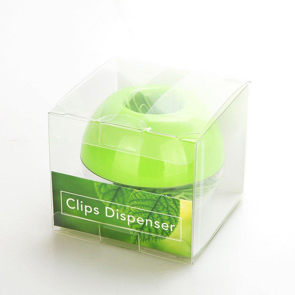 Multibey Greenery color graffette magnetico rotondo box Fashion memo segnalibro clip dispenser antisdrucciolevole finitura liscia in acciaio con copertura in PVC confezione da 100/clip