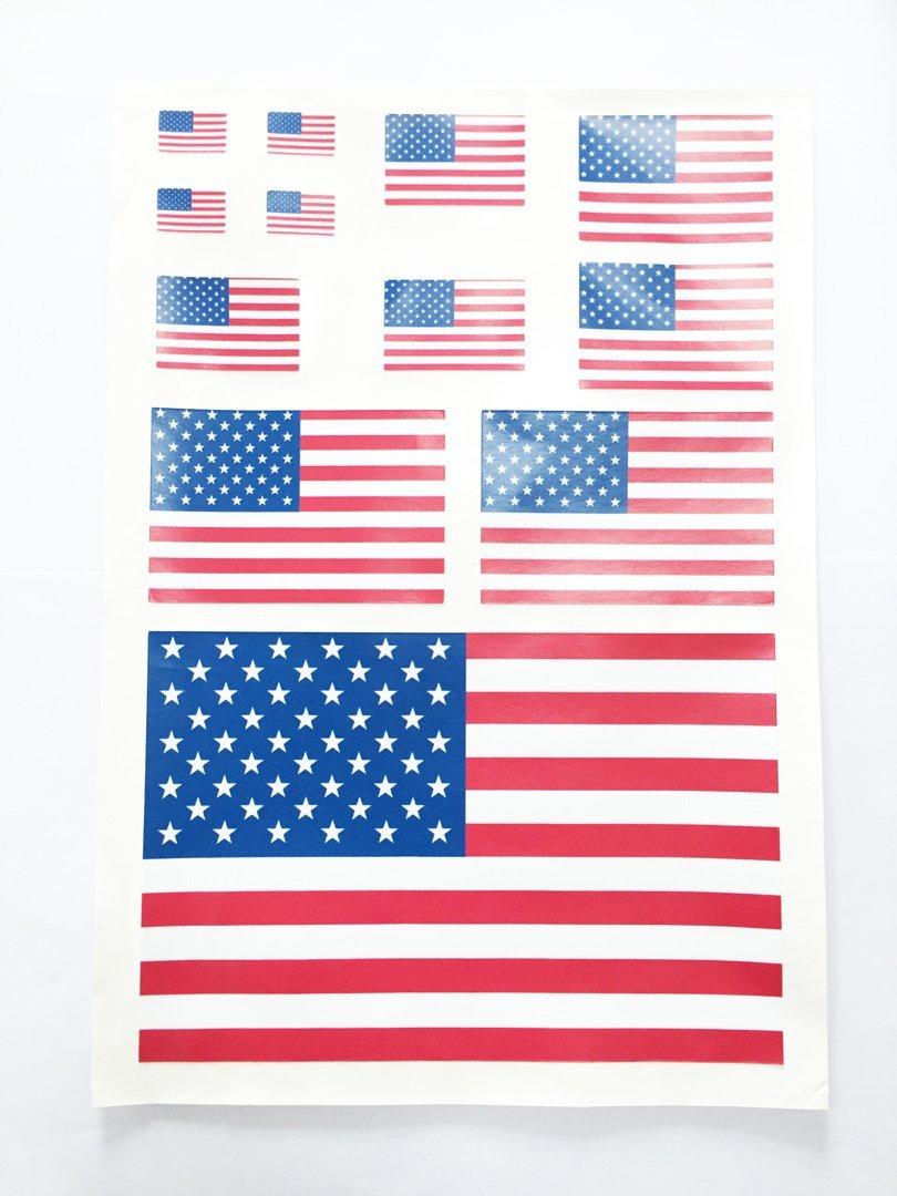 United States Flag KK Car Auto Sticker Vehicle-logo Badge Emblem Dian Bin-A90231 USA