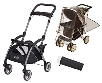 Graco SnugRider Elite Stroller And Car Seat Carrier With Weather Shield Insect Netting
