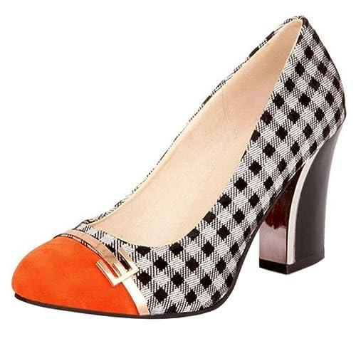 Zapatos Zapatos Pumps Y Mujer Complementos es Tacón Alto Amazon Coolcept Moda w78ORxqXw6
