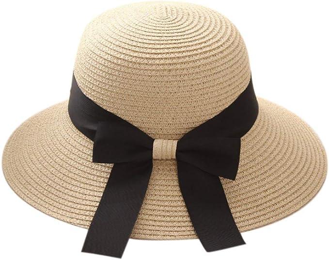 Gorro Elegante Sombrero para El Sol Paja Sombrero Verano De ...