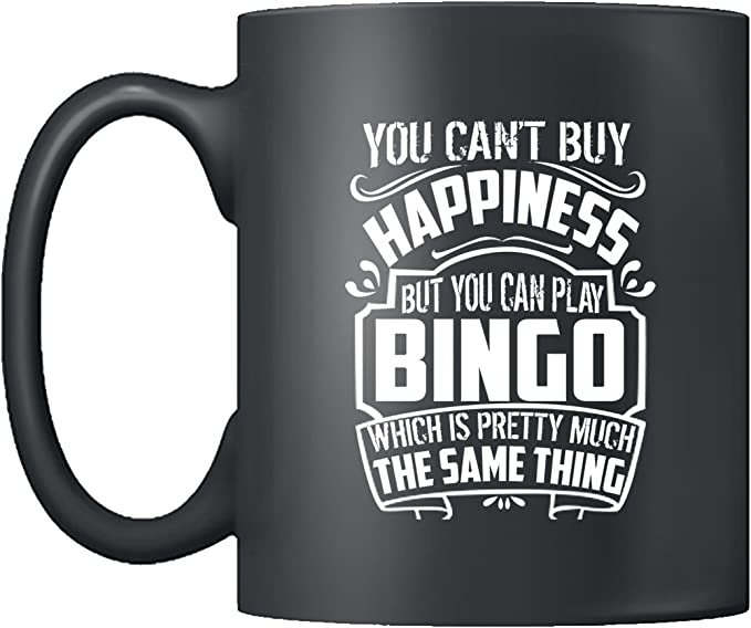 Amazon Com Bingo Coffee Mugs Bingo Tea Cup Cool Design Mug 11oz Gift For Friend Family Coffee Mug Black Clothing