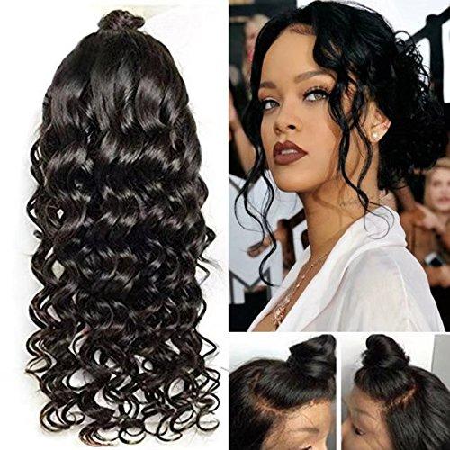 Brazilian Human Hair Wig Brazilian Virgin Hair Human Hair Lace Human Hair Wigs For Black Women Brazilian Loose Body Wave Lace Front Wigs 180% Density ( 24