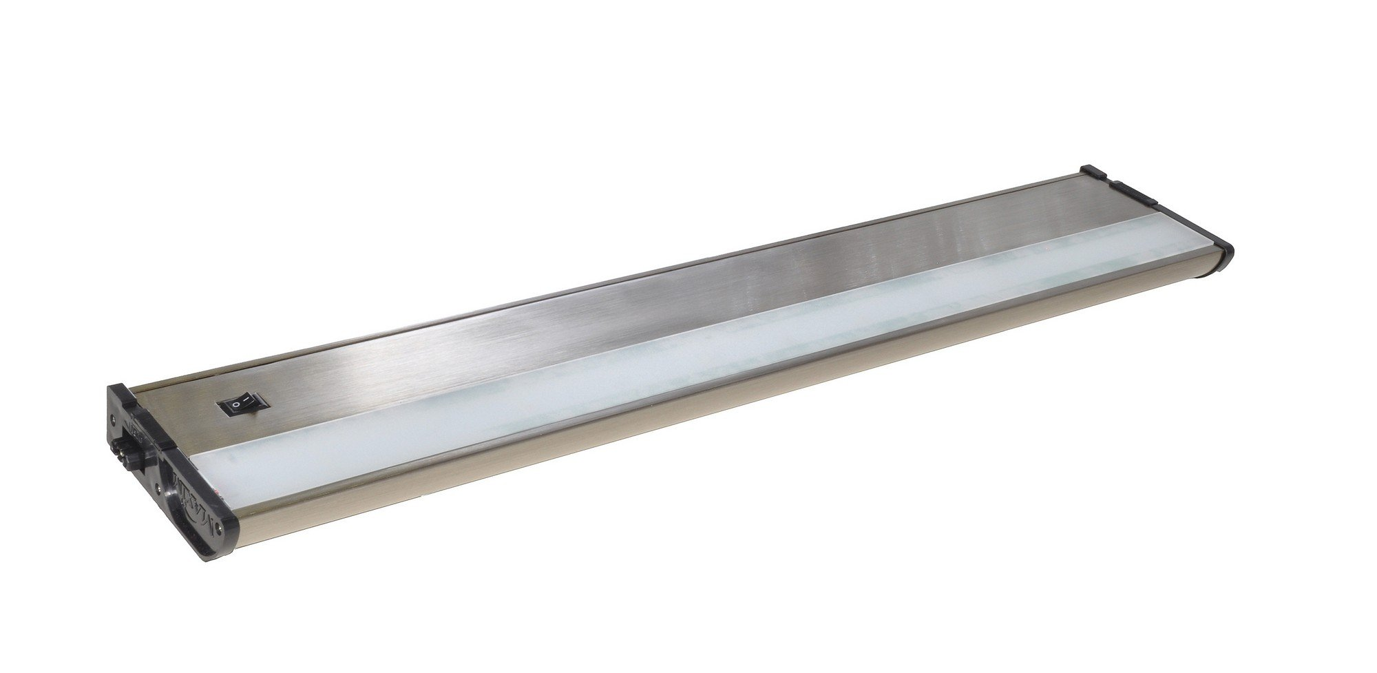 Maxim 89974SN CounterMax MX-L120DL 21'' 3000K LED Under Cabinet, Satin Nickel Finish, Clear Glass, PCB LED Bulb , 60W Max., Dry Safety Rating, Standard Dimmable, Shade Material, Rated Lumens