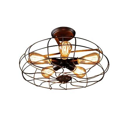 Best wishes shop luz de techo- Lámpara de Techo de Ventilador American Industrial Style Lámpara