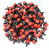 HAPYLY 100 Pcs Adjustable Irrigation Drippers Sprinklers Emitter Drip Irrigation Sprinklers Watering System Plastic