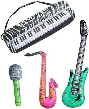 Toyvian 16 UNIDS Niños Inflables Instrumentos Musicales Set ...