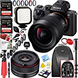 Sony a7R II Full-frame Mirrorless Interchangeable Lens 42.4MP Camera Body + Sony FE 12-24mm F4 G Ultra Wide-angle Zoom Lens + Rokinon 35mm f/2.8 FE Ultra Compact Lens + 128GB Accessory Bundle