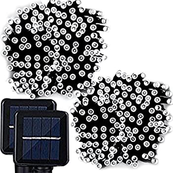 200 led solar string lights litom outdoor solar decor powered lemontec solar string lights 200 led holiday string lighting outdoor solar patio lights fit chrismas garden wedding party landscapewhite 2 pack 400 led aloadofball Gallery