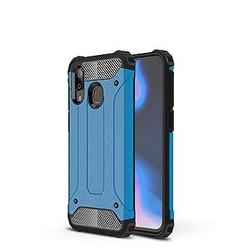 Funda Samsung Galaxy A40,Material de carcasa blanda PC+TPU,a prueba de golpes y caídas,disipación de calor de malla incorporada y diseño a prueba de ...