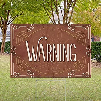 5-Pack Warning 27x18 CGSignLab Victorian Card Double-Sided Weather-Resistant Yard Sign