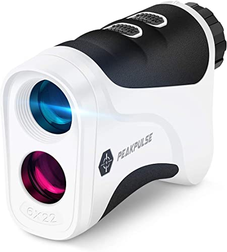 PEAKPULSE Golf Laser Rangefinder with Flag Acquisition, Pulse Vibration and Fast Focus System, Perfect for Choosing The Right Club. 6X Magnification.