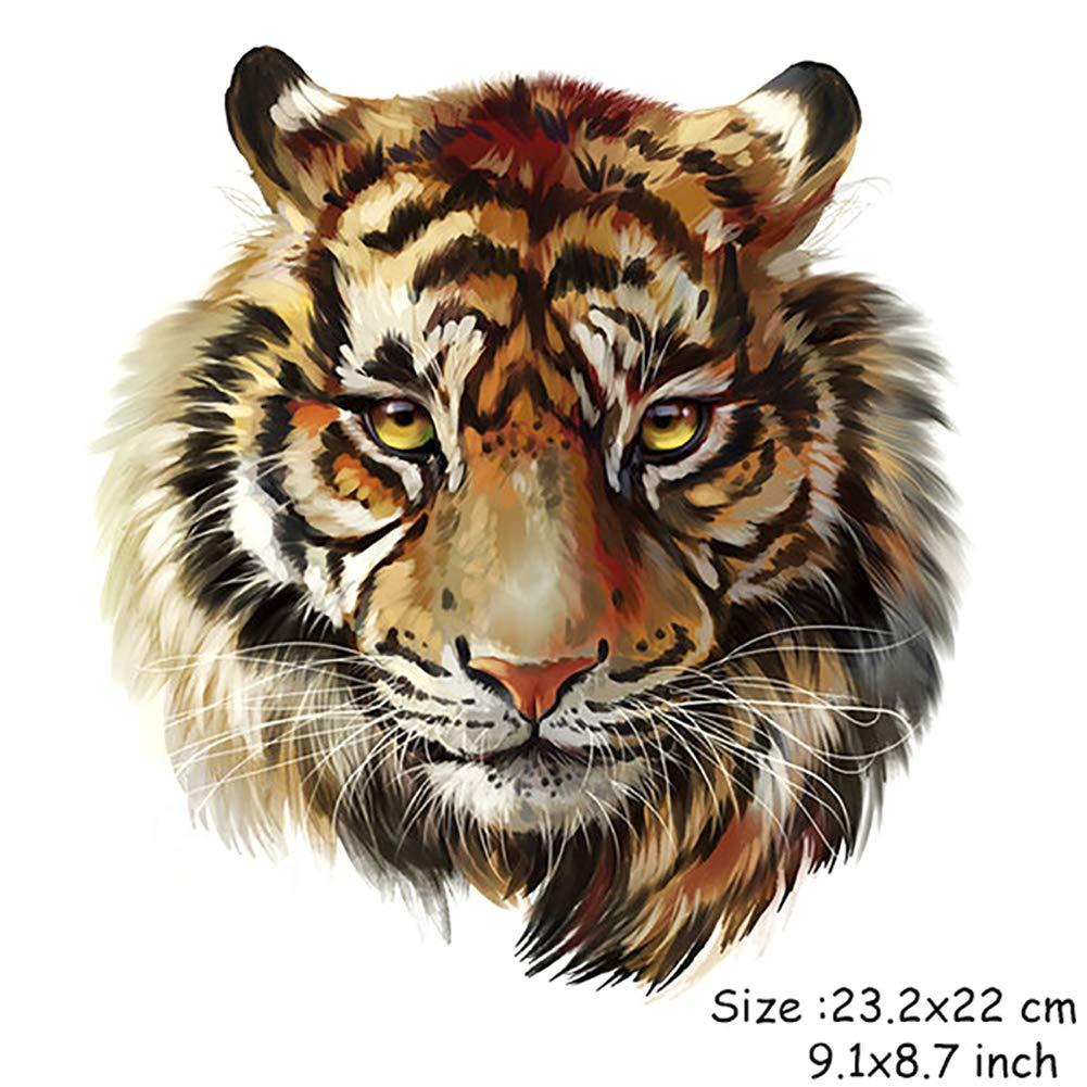 Aufbügler Aufbügelmotiv Patch ^ BIKER Patch^Tiger Kopf ^großer Aufnäher NEU