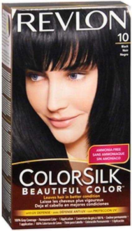 3x Revlon Colorsilk Precioso Color Tinte De Cabello 10 Black ...