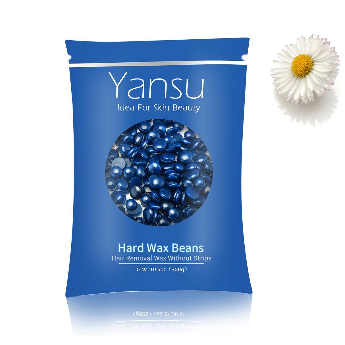 Yansu Brazilian Wax Bean Hot Melt Depilatory Hard Wax Beans For Women Men Hair Remove 300g(Chamomile)