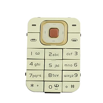 Reparación de la parte Beige botón del teclado para Nokia 7370