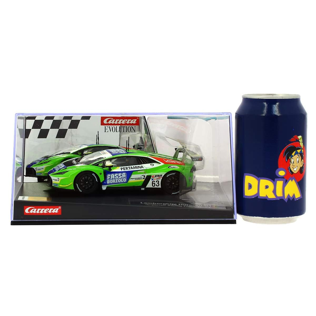 Carrera 27589 Lamborghini Huracán GT3 Imperiale Racing Team No. 63 1:32 Scale Analog Evolution Slot Car Racing Vehicle