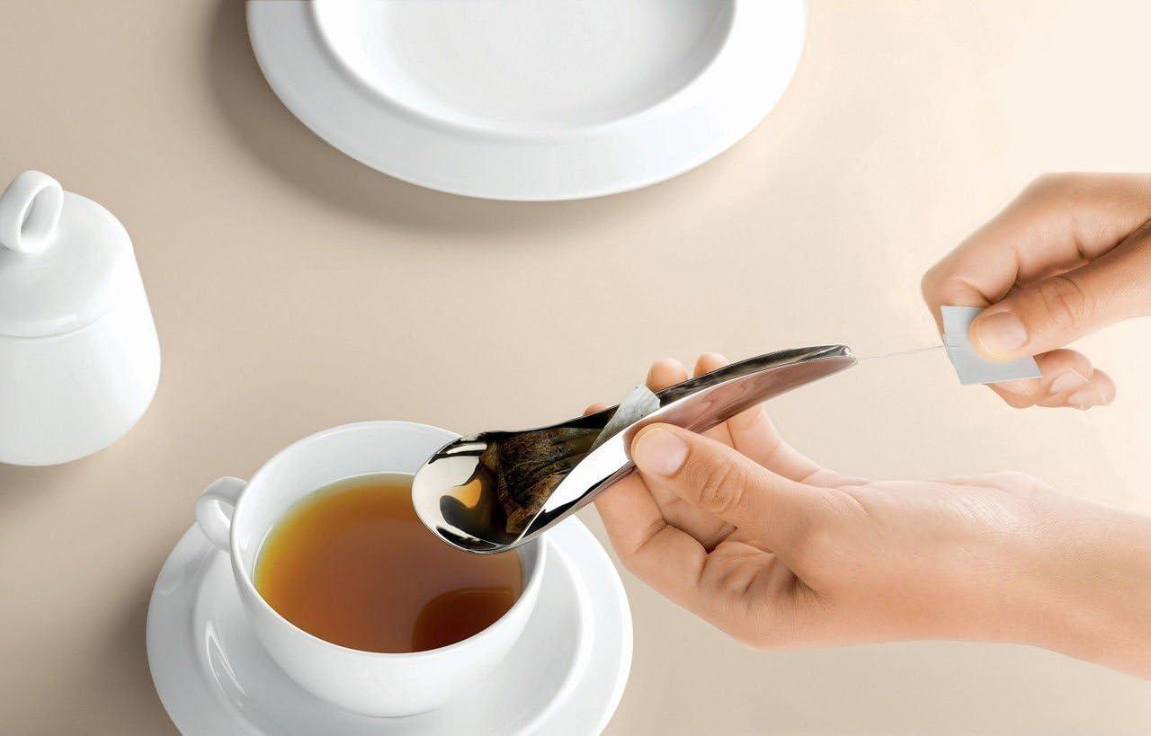 Alessi Teo – Cuchara para bolsa de té. – Bolsa de té de acero ...