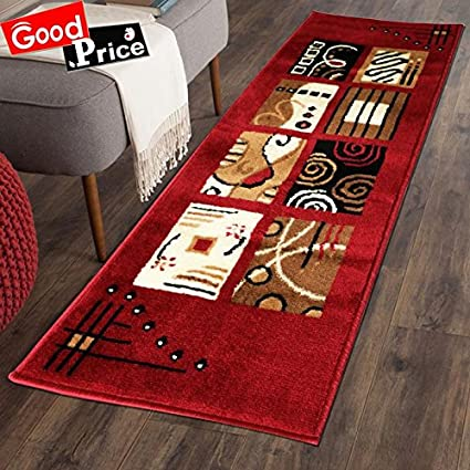 GOOD PRICE Anti Skid Microfiber Kitchen Carpet (2x55-inch, Red)