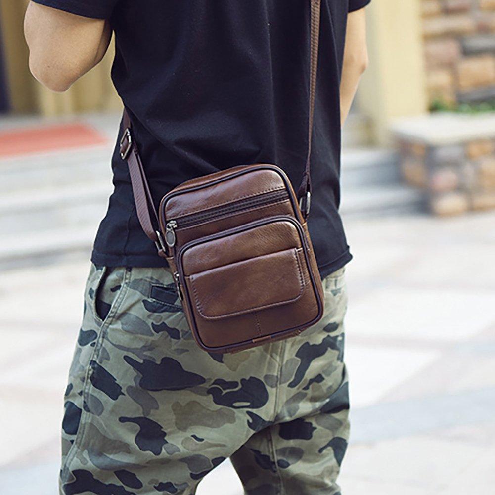 Realmark-Bolso bandolera de piel aut/éntica para hombre bolso de negocios