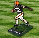 Jim Brown Cleveland Browns Autographed NFL Football McFarlane Figurine - Authentic Autographed Autograph