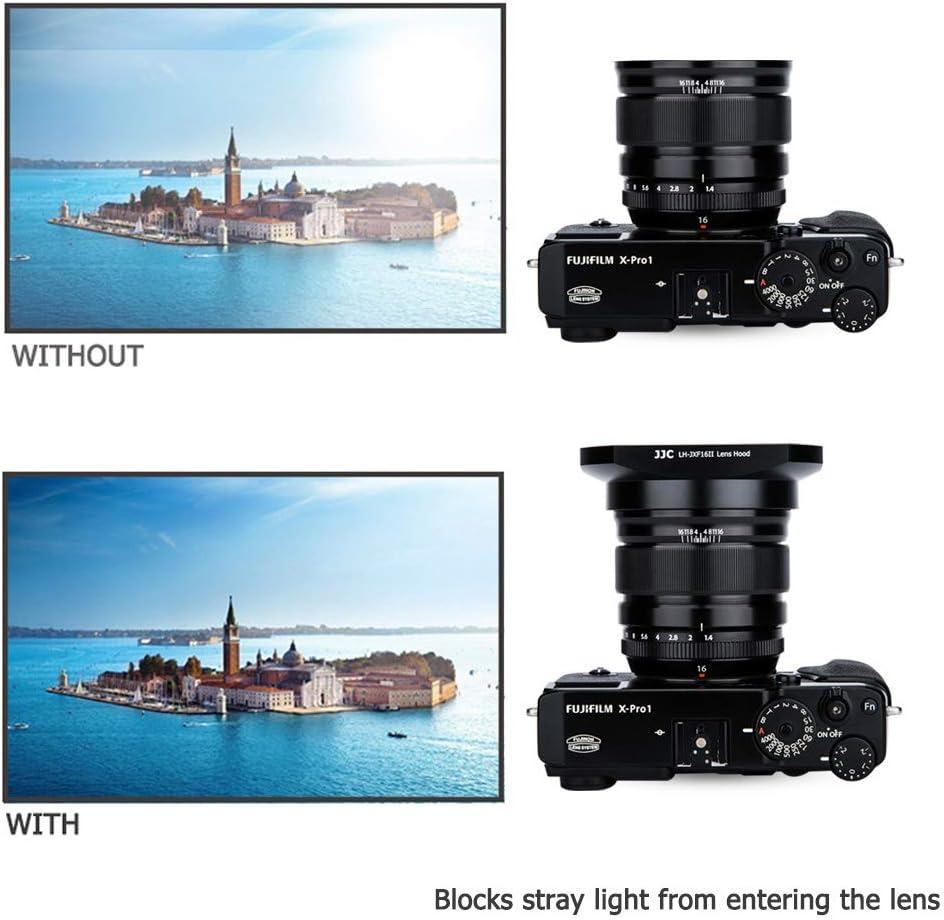 Black 16mm Lens Hood Shade for Fuji Fujifilm Fujinon Lens XF 16mm F1.4 R WR Replaces Fujifilm LH-XF16 Hood