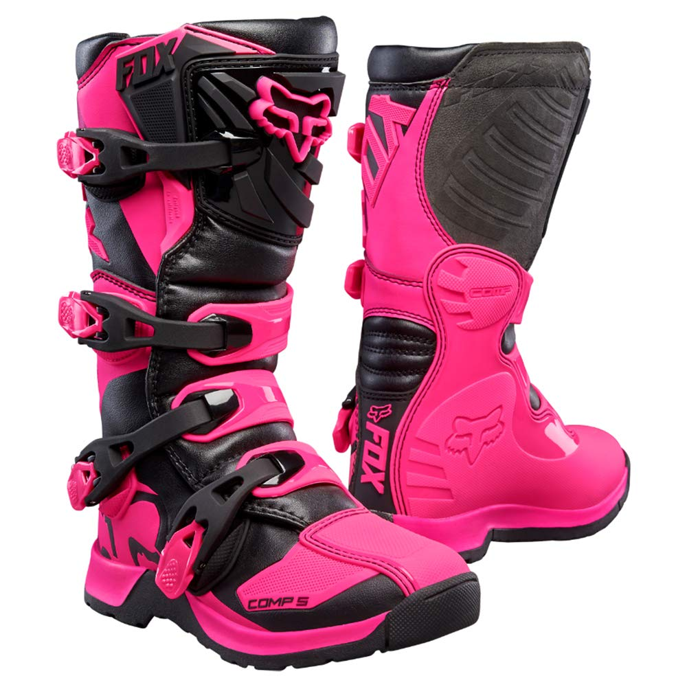 Fox Racing 2019 Youth Comp 5 Boots (8) (Black/Pink) by Fox Racing