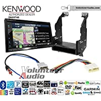 Volunteer Audio Kenwood DNX574S Double Din Radio Install Kit with GPS Navigation Apple CarPlay Android Auto Fits 2010-2012 Nissan Sentra