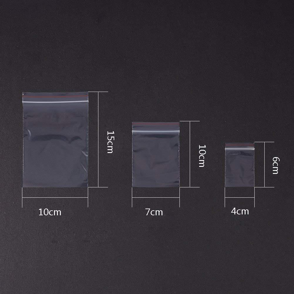 Lot de 300 sachets Zip Plastique 40x60//70x100//100x150mm