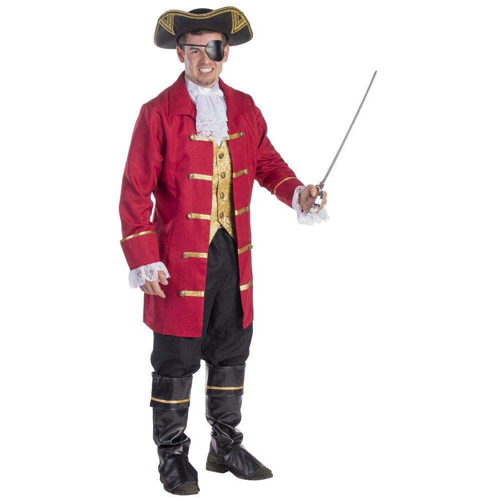 Traje de Pirata de Vestir América Elite Hombres (grande): Amazon ...