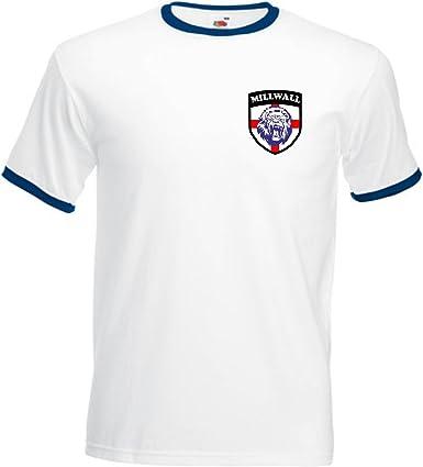 Millwall FC Fútbol Club fútbol Equipo George Cruz / Lion Camiseta - Todas Las Tallas - Azul Marino / Blanco, Large: Amazon.es: Ropa y accesorios