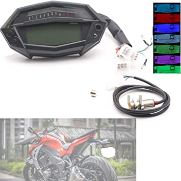 LCD Digital Kilometerzähler Motorrad Tachometer für Kawasaki Z1000