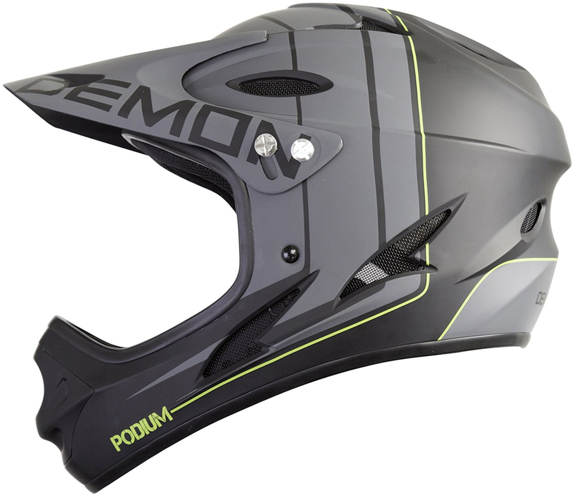 Demon Podium Full Face Mountain Bike Helmet (Black, S)