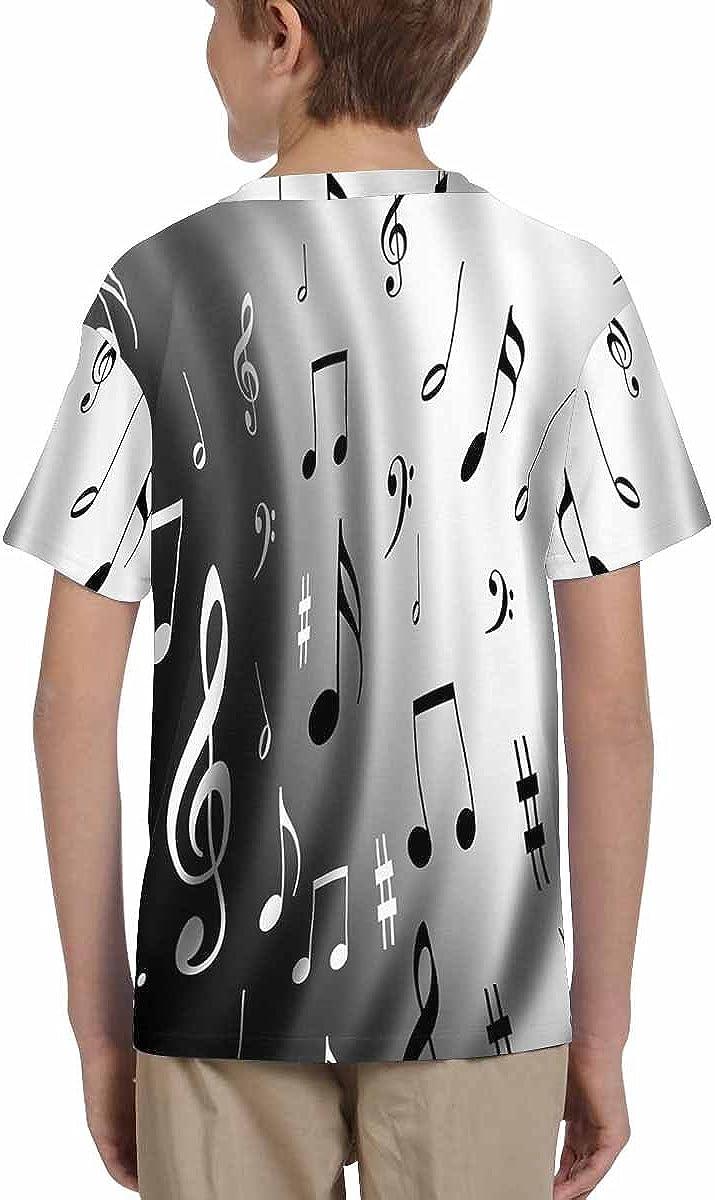 INTERESTPRINT Childs T-Shirt Music Notes Background XS-XL