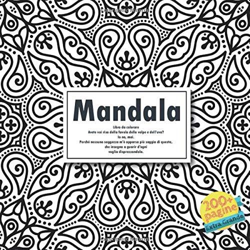 Mandala Libro Da Colorare Avete Voi Riso Della Favola Della