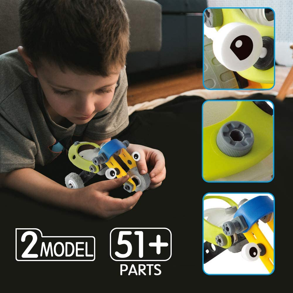 XIMEN Kids Building Toys Cars Educational DIY Assembly Car Kits for Kids Boys Best Birthday Gifts