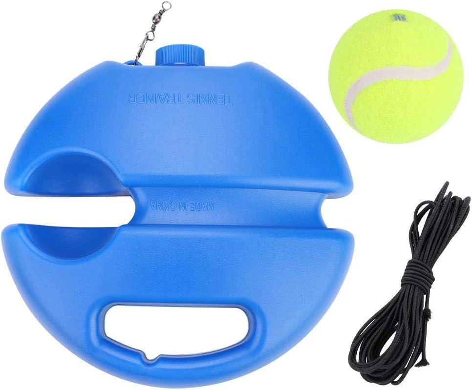 Entrenador de pelotas de tenis Baseboard de tenis con una cuerda y 1 pelota de entrenamiento Práctica de autoaprendizaje de tenis Herramienta de entrenamiento para niños principiantes adultos